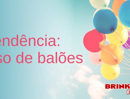 Tendência: Uso de balões